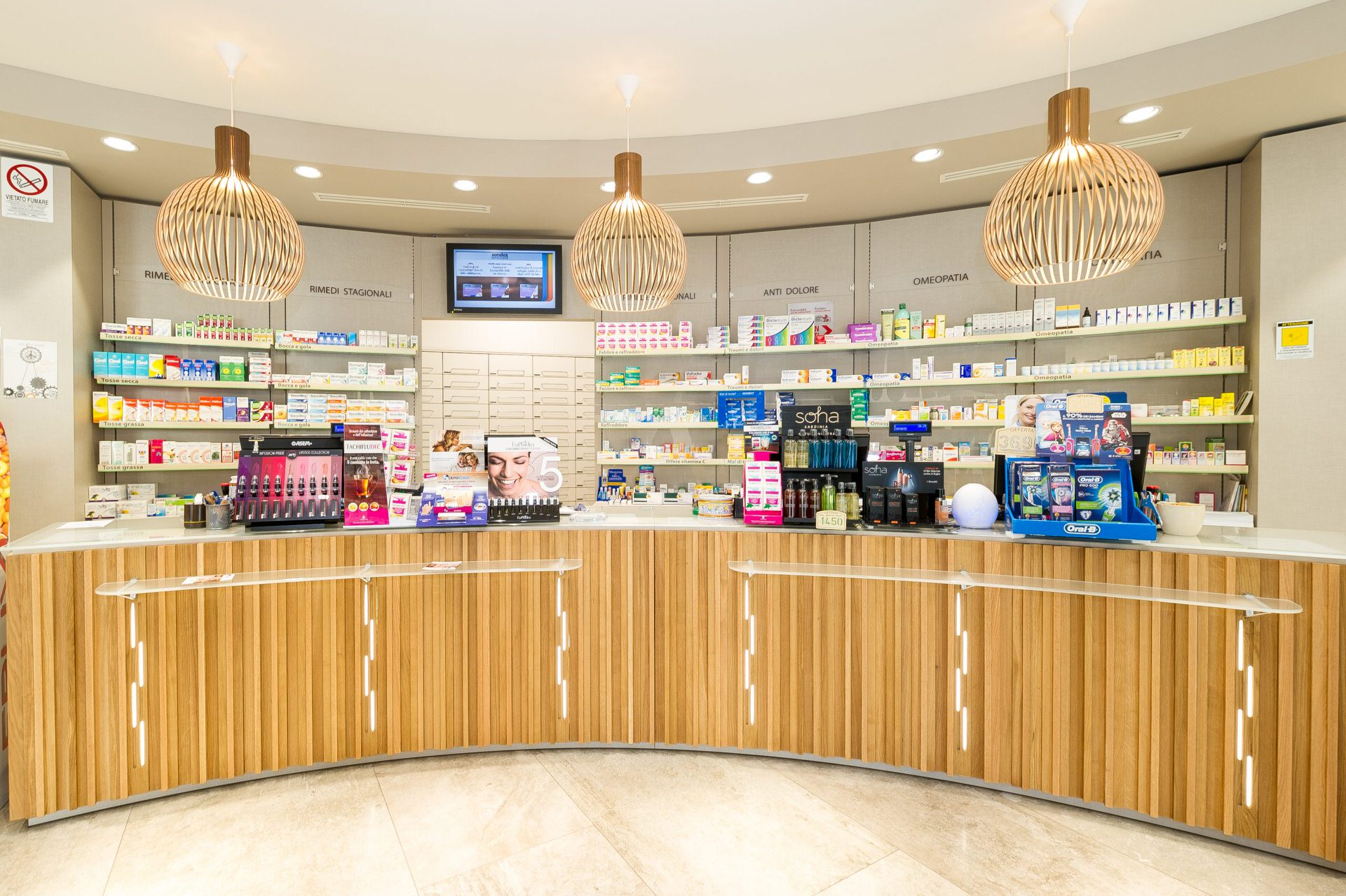 panoramica fotografica interni farmacia